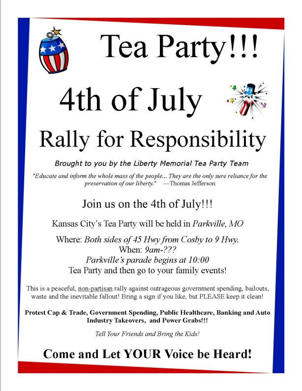 4th of July Rally for Responsiblity